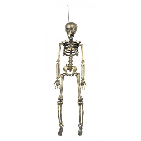 Gouden hangdecoratie skelet 42 cm