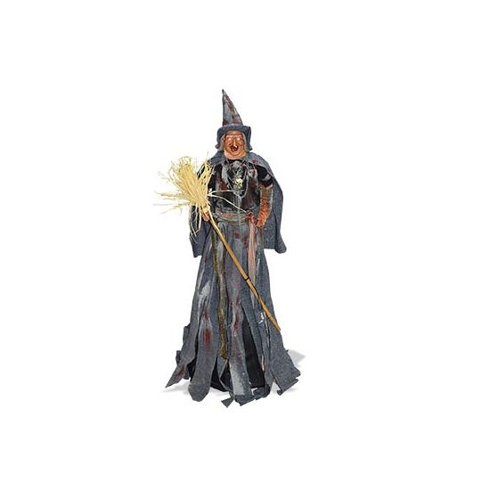 Halloween Decoratie heks met licht en geluid 110 cm
