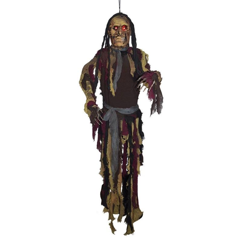 Halloween Decoratie spook met licht 160 cm