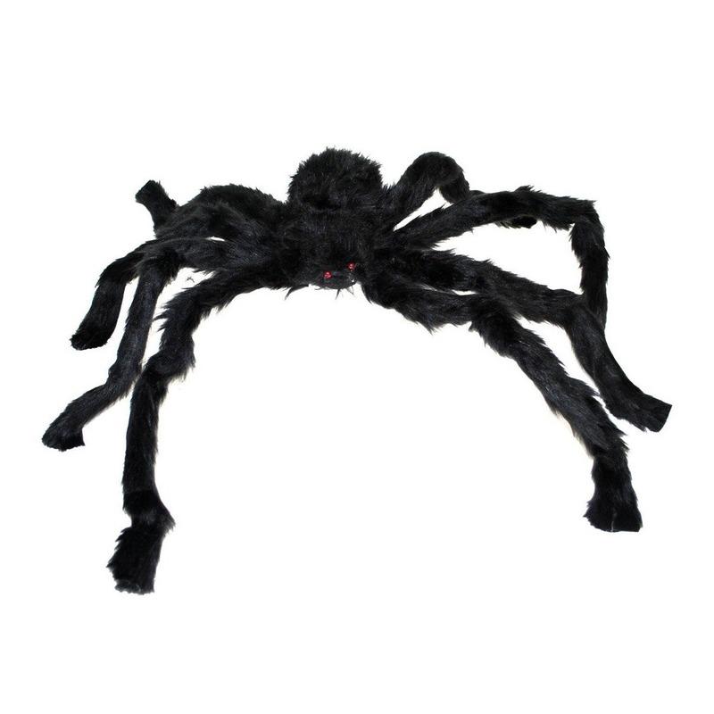 Halloween dieren zwarte spin 90 cm