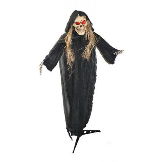Halloween Halloween beige skelet met lichteffect 150 cm