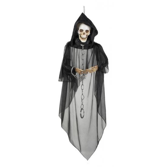Halloween hangedecoratie skelet 150 cm