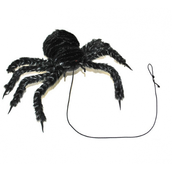 Halloween Harige nep spin met licht en geluid 50 cm