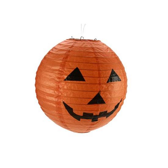 Halloween pompoen lampion 30 cm
