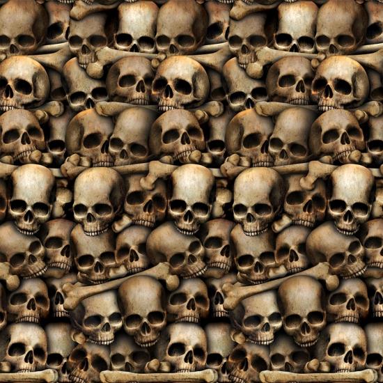 Halloween scenensetter schedels