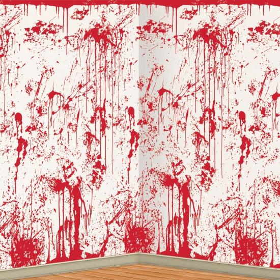 Halloween scenesetter bloederige muur