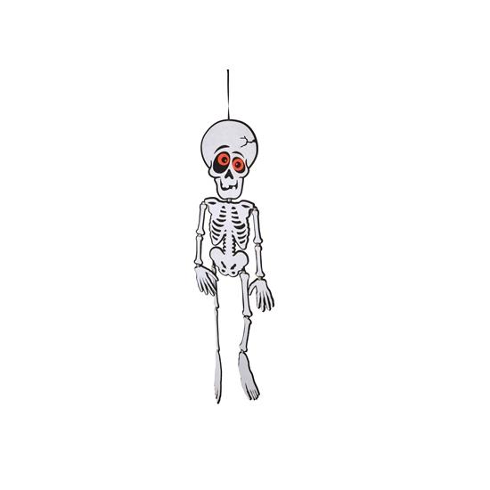 Halloween Skelet hangdecoratie van vilt 83 cm