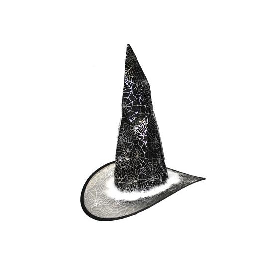 Hoge heksenhoed voor kinderen met zilver