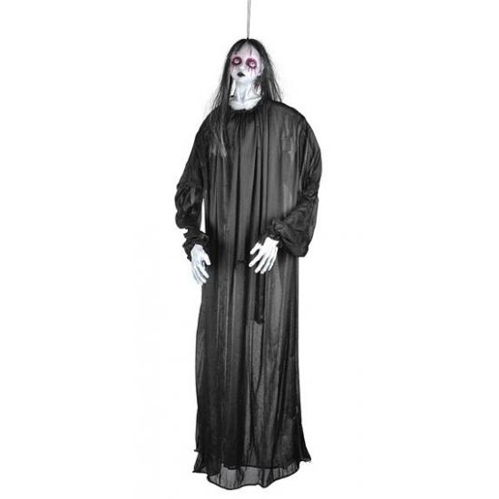 Horror hangpop meisjes spook in het zwart