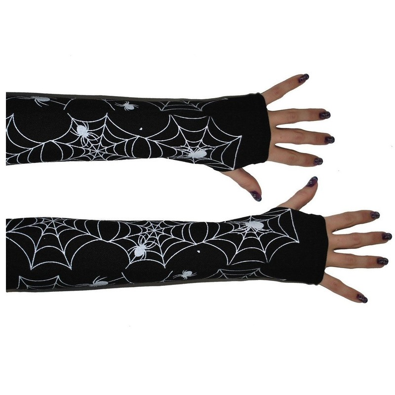 Lange spinnenweb handschoenen