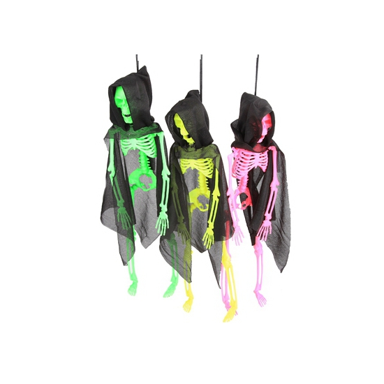 Neon decoratie skelet met cape