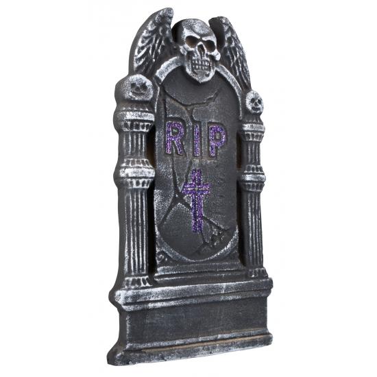 Rest in peace vliegende schedele grafsteen 40 cm