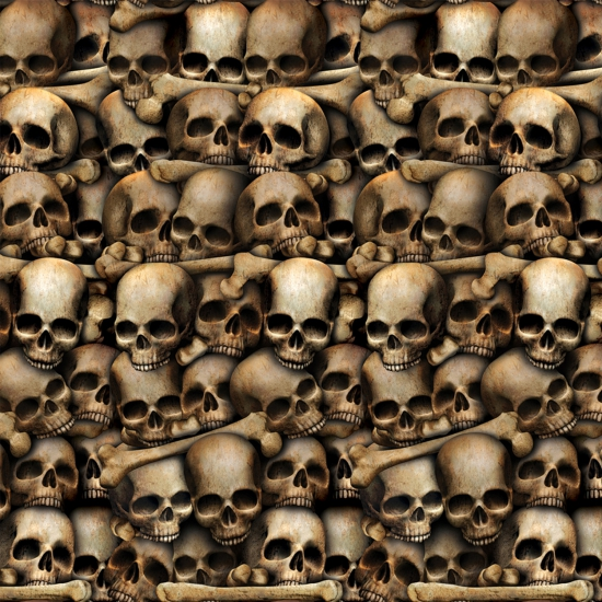 Schedel scenesetter voor Halloween 121 x 914 cm