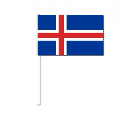 Zwaaivlaggetjes IJslandse vlag