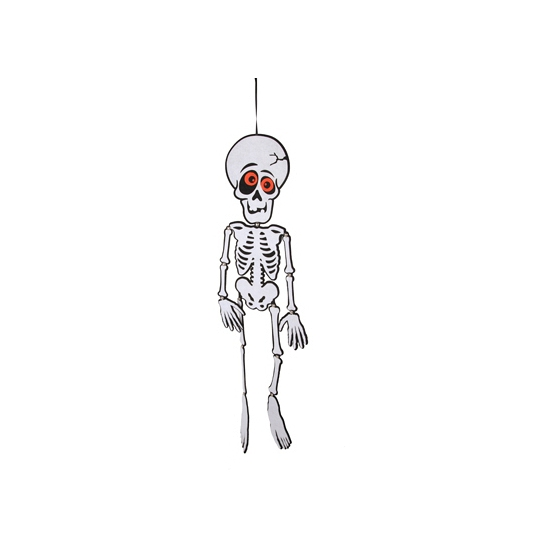 Zwart/wit skelet van vilt 83 cm