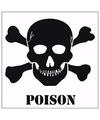 5x poison gevaren sticker 10 5 cm