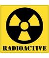5x radioactive gevaren sticker 10 5 cm