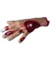 Halloween bloederige hand met wond