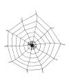 Halloween decoratie spinnenweb 150 cm