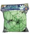 Halloween decoratie spinnenweb groen 50 gram