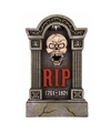 Halloween grafsteen rip met led ogen en bewegende kaak 60 cm
