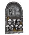 Halloween grafsteen rip met schedels 55 cm