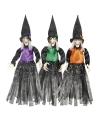 Halloween heksen hangdecoratie groen 70 cm