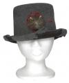 Halloween heren hoed met rat 13 x 29 x h25 cm