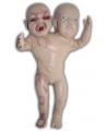 Halloween horror decoratie pop met 2 koppen