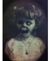 Halloween horror effect schilderij death girl