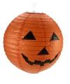 Halloween oranje pompoen lampion 30 cm