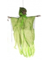 Hangdecoratie geest skelet groen