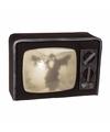 Horror tv decoratie met licht en geluid