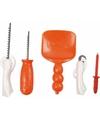 Pompoen gereedschapset 5 delig