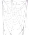 Spinnenweb decoratie wit 160 cm