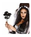 Zwarte rozen boeketje 35 cm