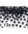 3x spinnetjes confetti zwart 45 gram