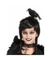 Halloween diadeem met zwarte kraai