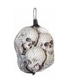 Halloween net met doodshoofden 6 stuks