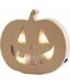 Halloween pompoen decoratie met licht 22 cm